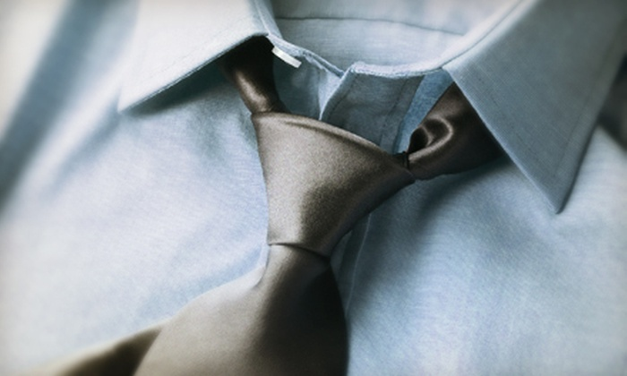 Executive Custom Tailors - Downtown: $199 for Three Bespoke Dress Shirts and Silk Ties from Executive Custom Tailors ($465 Value)
