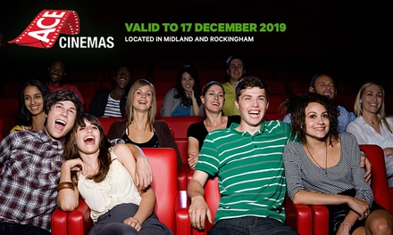 Cinema Ticket: Kid $11, Adult $14.50 or Gold Lounge $28.50 at Ace Cinemas, 2 Locations Up to $34 Value