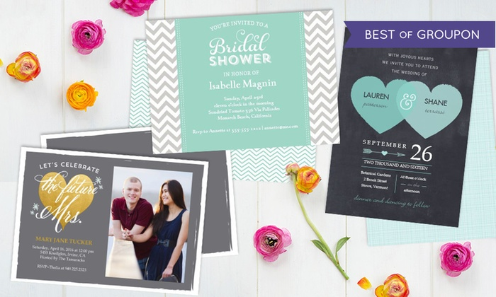 staples multiple locations custom wedding invitations and save the date cards at staples - Groupon Wedding Invitations
