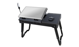Multi-functional Laptop Table Stand with Cooling Fan and LED Light