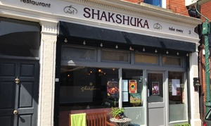 Shakshuka: Choice of Four Middle-Eastern Mezze Each (Tapas) with Homemade Lemonade for Two or Four at Shakshuka (Up to 49% Off)