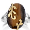 Tiger Eye Ring in 14K Gold and Sterling Silver