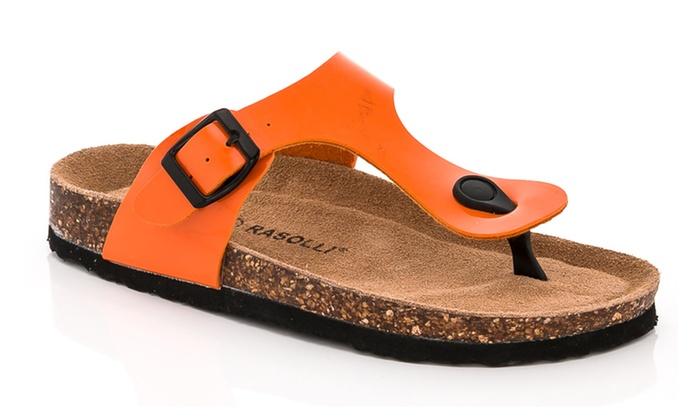 Rasolli Berta Women S Footbed Thong Sandals Size 6 Groupon