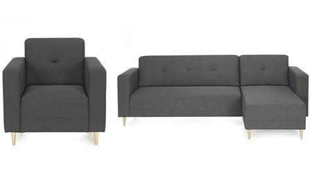 Sofá chaiselongue o butaca de diseño escandinavo