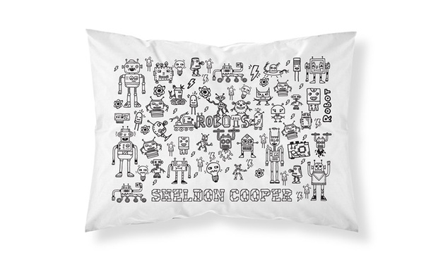 Personalised Doodle Pillowcase: One ($12) or Two ($22) (Dont Pay up to $69.11)