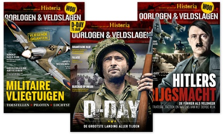 4 nummers Historia Special: Oorlog & veldslagen, het abonnement stopt automatisch