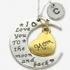 I Love You to the Moon and Back Mother's Charm Pendant