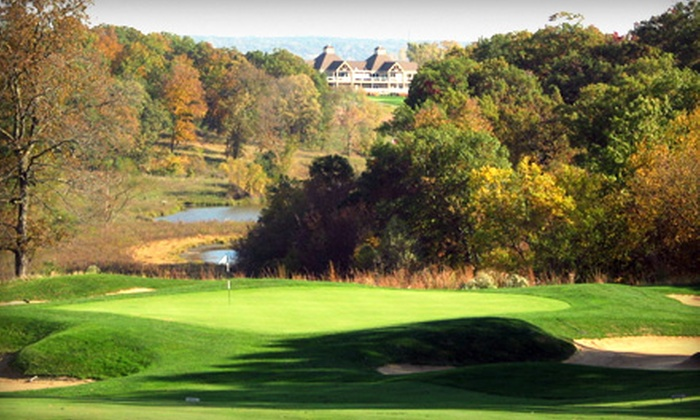 Amana Colonies Golf Course - Lenox: 18-Hole Round of Golf for One or Two with Cart Rental and Pro-Shop Credit at Amana Colonies Golf Course (Up to 54% Off)