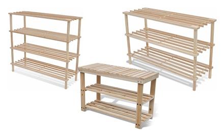 schuhregal aus holz groupon goods. Black Bedroom Furniture Sets. Home Design Ideas
