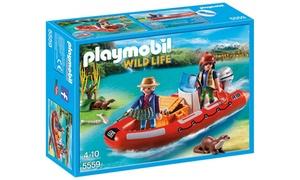 Braconniers avec Bateau Playmobil