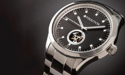 Heritor Automatic Uhr für Herren mit Leder- oder Edelstahlarmband in der Farbe nach Wahl (Munchen)