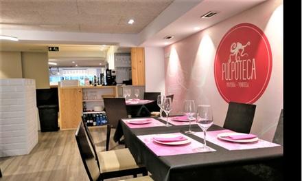 Menú gallego con entrante, principal, postre y bebida desde 24,95 € en Pulpoteca