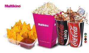 Multikino: Zestawy barowe w Multikinie: napój z popcornem (od 14,99 zł) lub nachosami (od 19,99 zł) – 33 lokalizacje (do -40%)