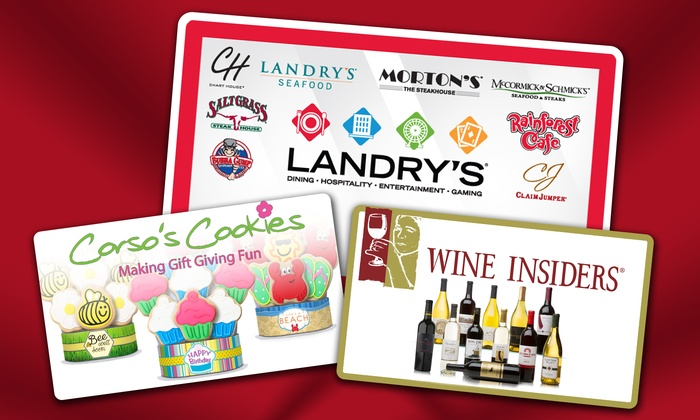 Landry's and Corso's Cookies or Landry's and Wine Insiders (depending on option purchased): eGift Cards to Landry's Restaurants, Corso's Cookies, and Wine Insiders (Up to 36% Off)
