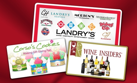 eGift Cards to Landry's Restaurants, Corso's Cookies, and Wine Insiders (Up to 36% Off)