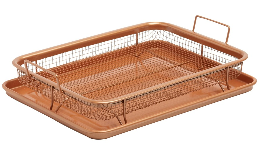 Gotham Steel Crisper Tray With Nonstick Copper Surface As Seen On Tv Groupon