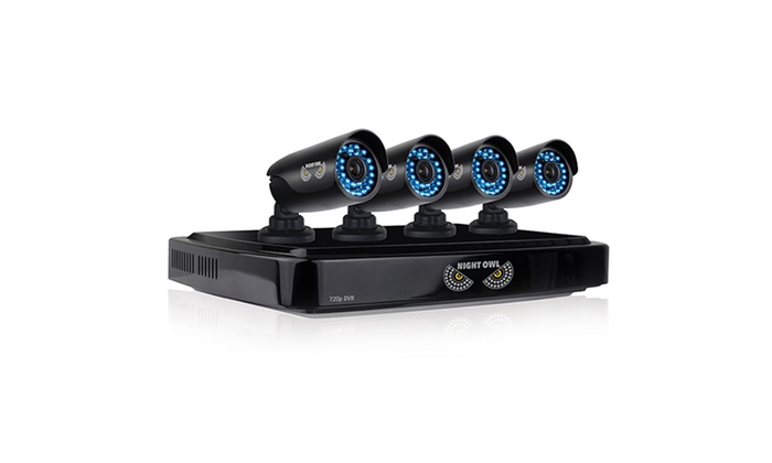 Night Owl 8-Channel HD Security System with 4 Cameras (Mfr. Refurb.)