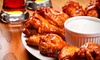 AYCE Buffalo Wings + Wine or Beer