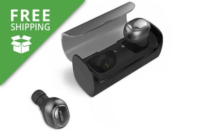 Free Shipping: $59 for a Pair of Mini Wireless Bluetooth Earphones with Spare Earbuds and Charging Box