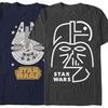 Big and Tall Men's Geo Star Wars Tee