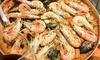 Trattoria Spaghetteria Al Corvo - Corbanese di Tarzo: Padella di paella catalana da 1kg con antipasto, dolce e un litro di sangria per 2, 4 e 6 persone