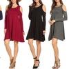 Nelly Women's Open-Shoulder Shift Dress. Plus Sizes Available.