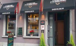 L'Atelier D'Alessandro: Un menu 3 services Italien pour 1, 2 ou 4 personnes à partir de 19,99 € à L'atelier D'Alessandro