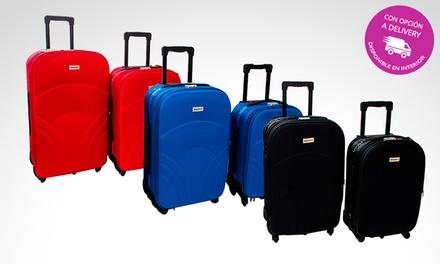 a2475dc30 Desde $2439 en vez de $3680 por set de valijas semi rígidas con delivery o  retiro