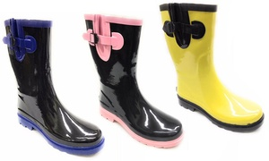 Forever Young Women's Two-Tone Short Rainboots