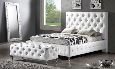 Upholstered Platform Beds. Multiple Options from $449.99–$569.99.