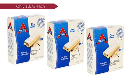 $14 for Three 5packs of Atkins Advantage Low Carb Protein Bars Cookies and Cream Don't Pay Up to $77.94