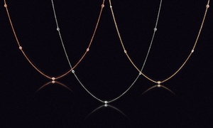 Station Necklace Made with Swarovski Crystal by Angélique Paris
