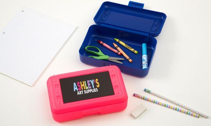 personalized pencil box personalization mall groupon