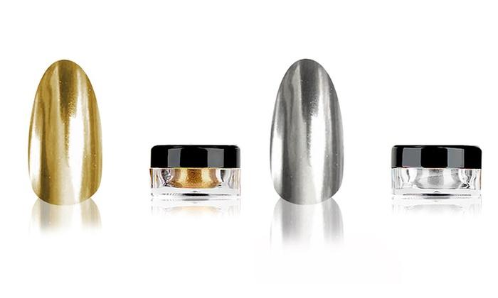 Polvere effetto specchio per unghie groupon goods - Unghie effetto specchio polvere ...