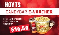 HOYTS Trio Candy Voucher: Popcorn, Drink & Choc Top for $16.50 (Dont pay $22.65) - 38 Cinemas Nationwide