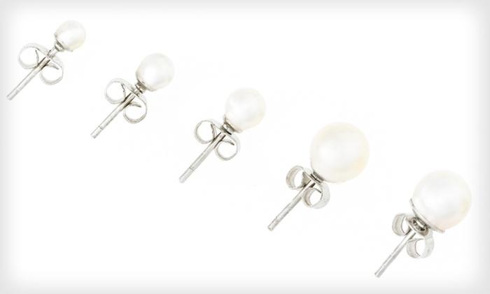 Akoya-Pearl Stud Earrings: Akoya-Pearl Stud Earrings (Up to 87% Off). Five Sizes Available. Free Returns.