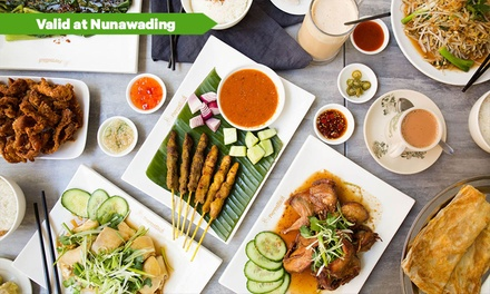 $28 for $35, $36 for $45 or $64 for $80 to Spend on Malaysian Food and Drinks at PappaRich Nunawading