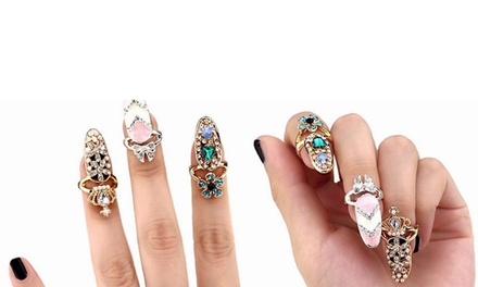 Ensemble de 3 bagues pour onlges ornées de cristaux
