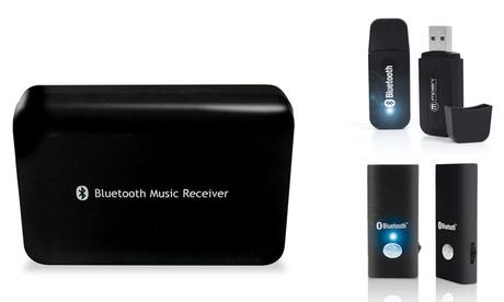 Hasta 2 dispositivos de música Bluetooth: receptor de música con adaptador, receptor de música USB y transmisor de audio