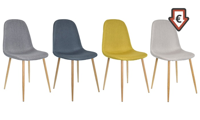 Chaises Scandinaves Shopping TissuGroupon En Lot 80wknOP