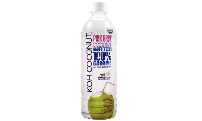 Koh Coconut 100 Organic Pink Baby Coconut Water 12 Pack