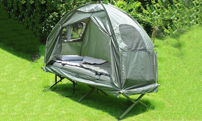 MH Canada Inc. Outsunny Multi-Functional Dome Tent with C&ing Cot and Sleeping ... & MH Canada Inc. Deal of the Day | Groupon