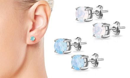 1 o 3 pares de pendientes decorados con cristales de Swarovski® desde 4,99 € (hasta 90% de descuento)