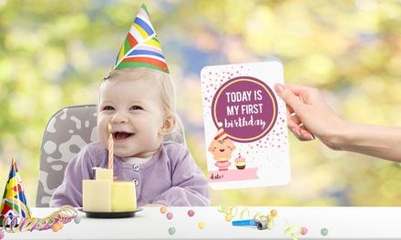 30-teiliges Karten-Set mit Abbildungen und Markierungen der wichtigsten Meilensteinen eines Kindes  (Frankfurt)