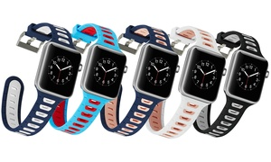 Sports Silicone Replacement Band for Apple Watch