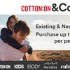 Cotton On & Co: $30 Credit  + FREE SHIPPING