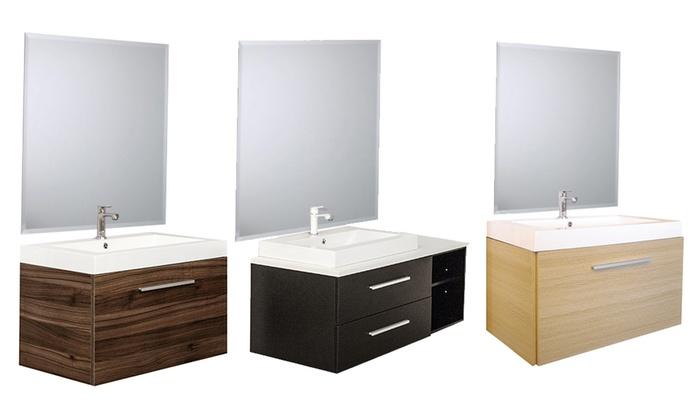 Mobile bagno urban con specchio groupon goods - Mobile bagno misure ...