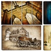Vintage Car and Architecture Artworks on Gallery-Wrapped Canvas