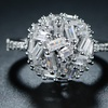 Staggered Cubic Zirconia Ring by Barzel