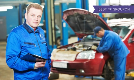 62-Point Full Service with Oil and Filter Change and Optional MOT and Air Con Re-Gas at R J Engineering (Up to 67% Off)